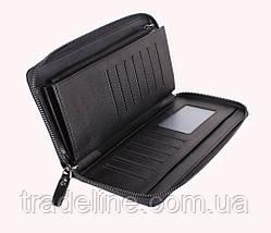 Клатч мужской кожаный Dovhani BLACK001-18 Черный, фото 2