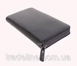 Клатч мужской кожаный Dovhani BLACK001-223 Черный, фото 2