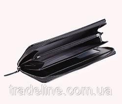 Клатч мужской кожаный Dovhani BLACK001-223 Черный, фото 3