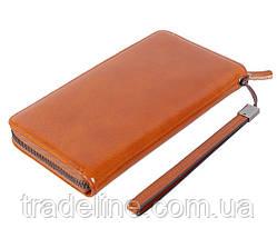 Клатч мужской кожаный Dovhani WHEAT001-55 Рыжий, фото 2