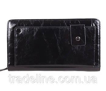 Клатч чоловічий шкіряний Dovhani BLACK003-12 Чорний
