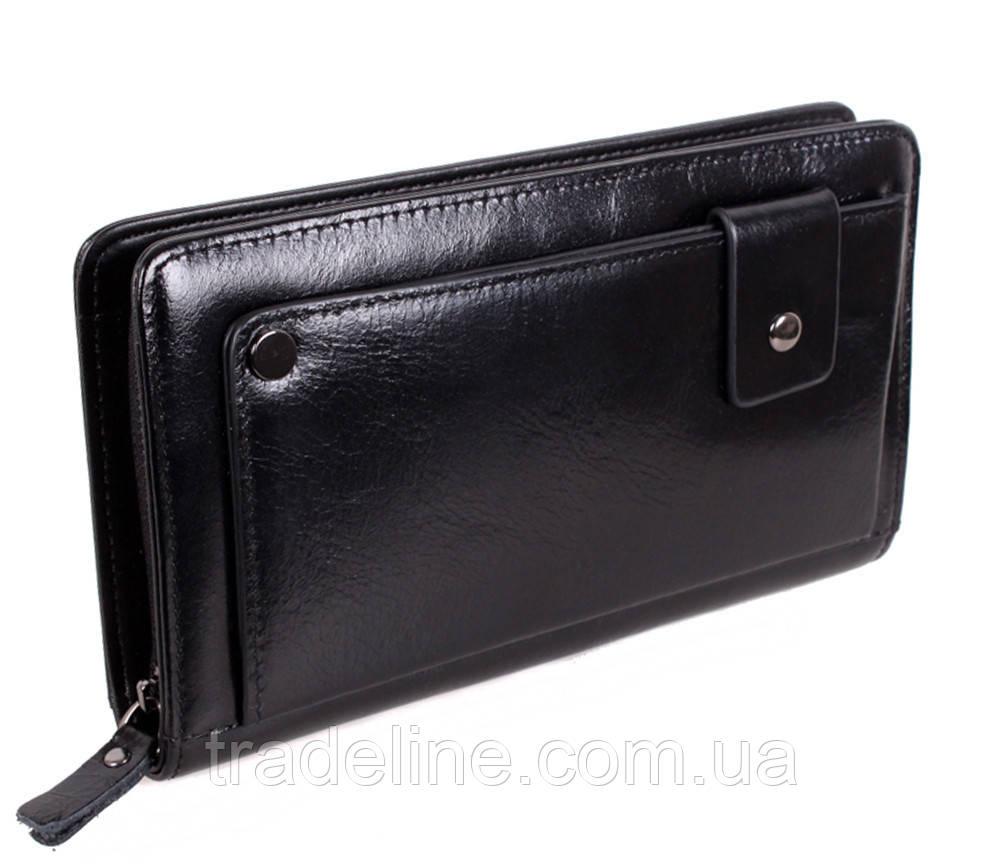 Клатч мужской кожаный Dovhani BLACK003-223 Черный