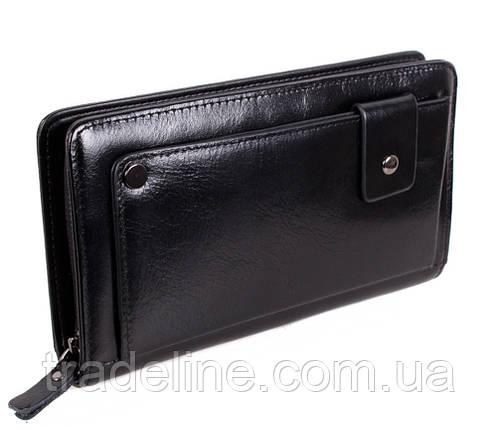 Клатч мужской кожаный Dovhani BLACK003-223 Черный, фото 2