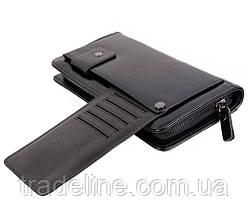 Клатч мужской кожаный Dovhani BLACK003-223 Черный, фото 3