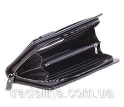 Клатч мужской кожаный Dovhani BLACK003-335 Черный, фото 3