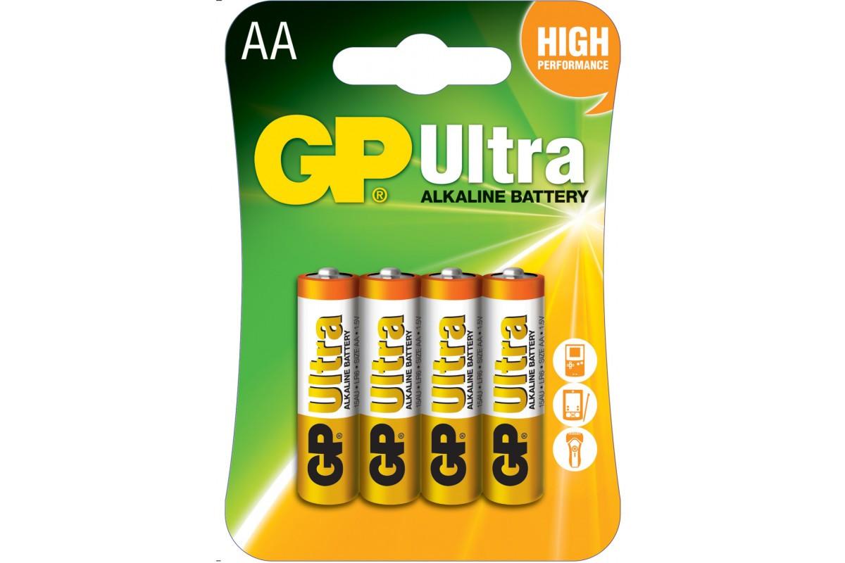 Батарейка GP 15A-U4 Alkaine LR6 AA блістер 4 шт