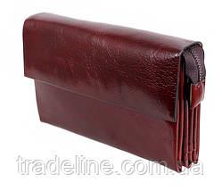 Клатч мужской кожаный Dovhani COFFEE004-447 Бордовый, фото 2