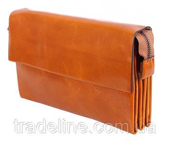 Клатч мужской кожаный Dovhani WHEAT003-58 Рыжий