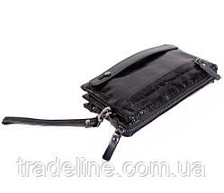 Клатч мужской кожаный Dovhani BLACK005-187 Черный, фото 2