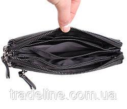 Клатч мужской кожаный Dovhani BLACK005-187 Черный, фото 3