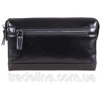Клатч мужской кожаный Dovhani BLACK005-2А Черный
