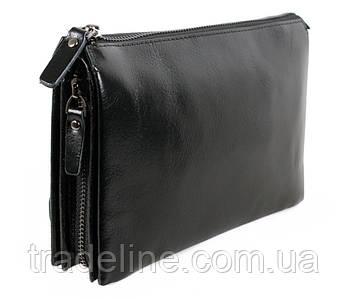 Клатч мужской кожаный Dovhani BLACK006-296 Черный