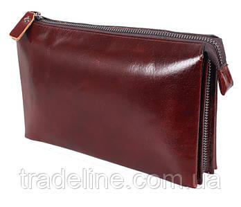 Клатч мужской кожаный Dovhani COFFEE005-433 Бордовый