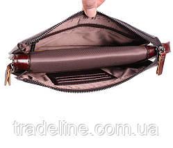 Клатч мужской кожаный Dovhani COFFEE005-433 Бордовый, фото 2