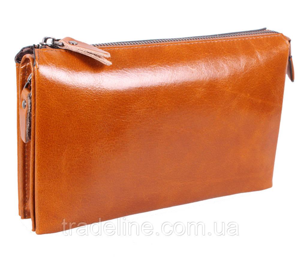 Клатч мужской кожаный Dovhani WHEAT005-505 Рыжий
