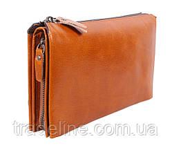 Клатч мужской кожаный Dovhani WHEAT005-505 Рыжий, фото 2