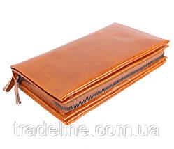 Клатч мужской кожаный Dovhani WHEAT005-505 Рыжий, фото 3
