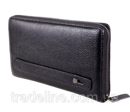 Клатч мужской кожаный Dovhani BLACK002-303 Черный, фото 2