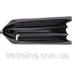 Клатч мужской кожаный Dovhani BLACK002-303 Черный, фото 3