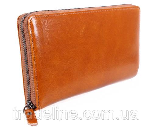 Клатч мужской кожаный Dovhani WHEAT002-505 Рыжий, фото 2