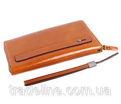 Клатч мужской кожаный Dovhani WHEAT002-505 Рыжий, фото 3