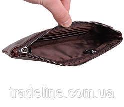Клатч мужской кожаный Dovhani LA8015-2DBL2 Коричневый, фото 3
