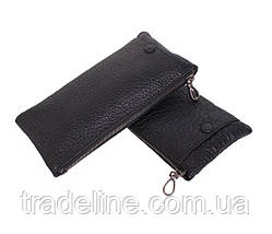 Клатч мужской кожаный Dovhani LA8015-3BL3 Черный, фото 2