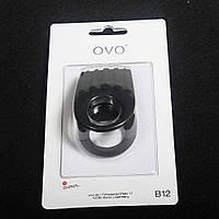 Виброкольцо OVO B12 черное