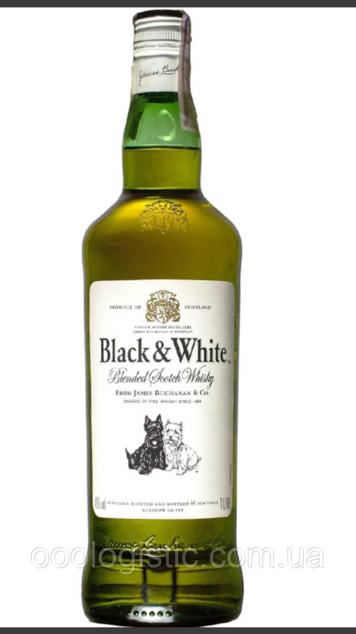 Виски Блэк энд Вайт / Black & White, 6 лет, 40%, 1л