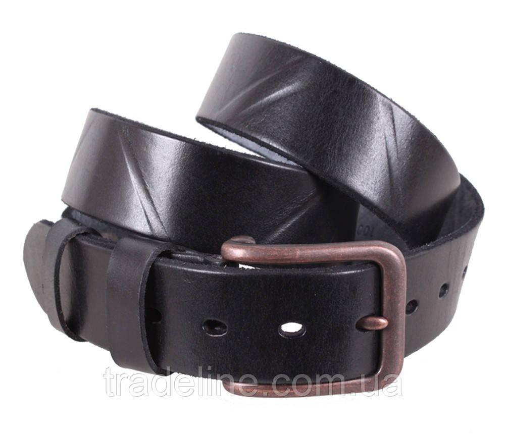 Мужской кожаный ремень Dovhani BUFF000-155 115-130 см Черный