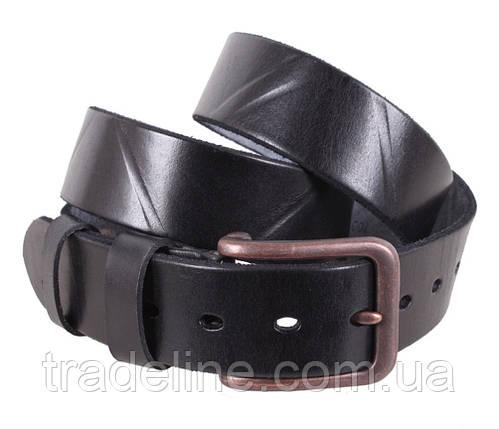 Мужской кожаный ремень Dovhani BUFF000-155 115-130 см Черный, фото 2