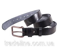 Мужской кожаный ремень Dovhani BUFF000-155 115-130 см Черный, фото 3