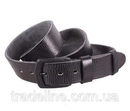 Мужской кожаный ремень Dovhani BUFF000-1111 115-130 см Черный, фото 2