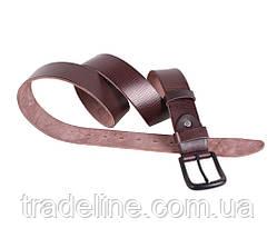 Мужской кожаный ремень Dovhani BUFF000-9999 115-130 см Коричневый, фото 3