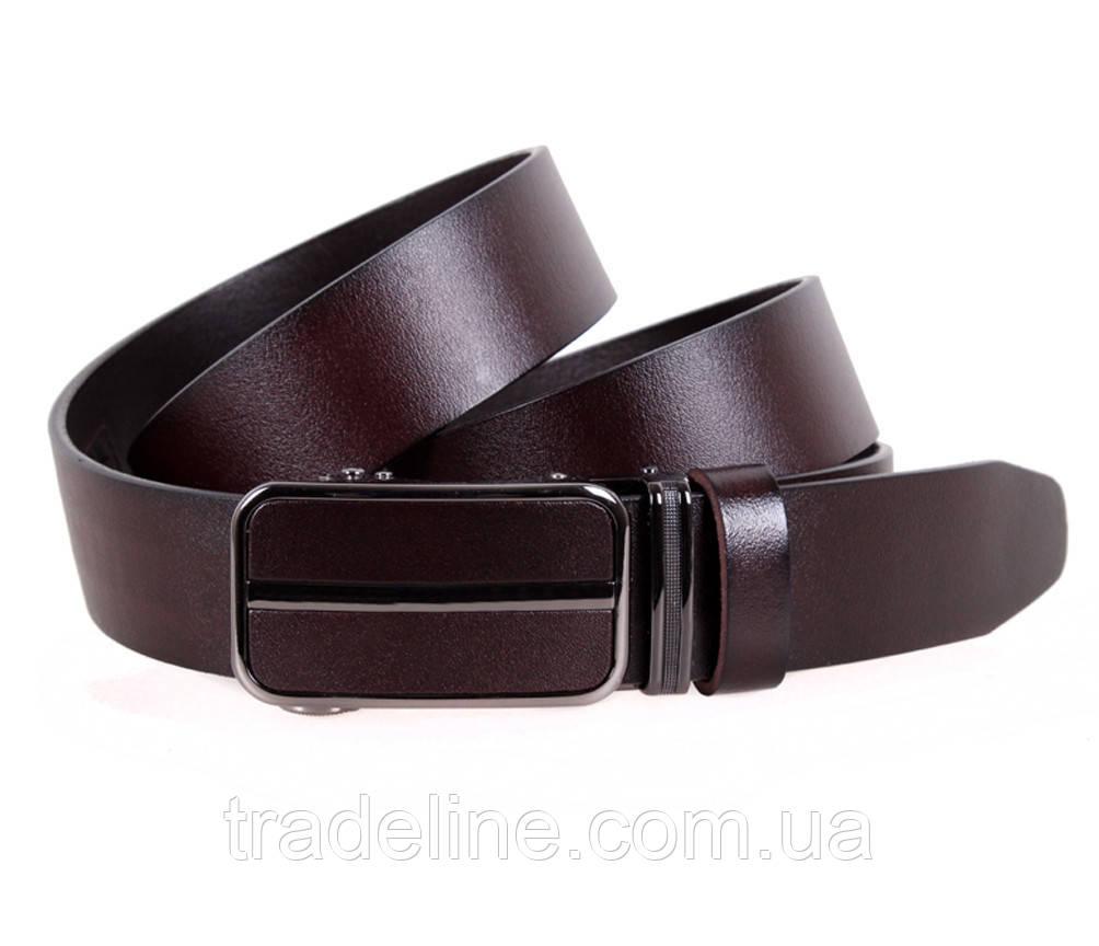Мужской кожаный ремень Dovhani MGA101-2255 105-125 см Коричневый