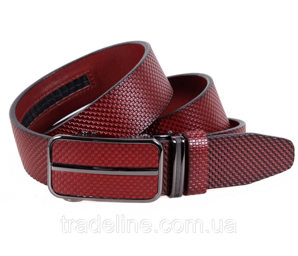Мужской кожаный ремень Dovhani MGA101-660 105-125 см Бордовый