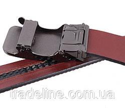 Мужской кожаный ремень Dovhani MGA101-660 105-125 см Бордовый, фото 3