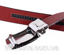 Мужской кожаный ремень Dovhani MGA101-880 105-125 см Бордовый, фото 3