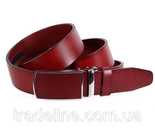Мужской кожаный ремень Dovhani MGA101-1011 105-125 см Бордовый, фото 2