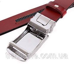 Мужской кожаный ремень Dovhani MGA101-1011 105-125 см Бордовый, фото 3