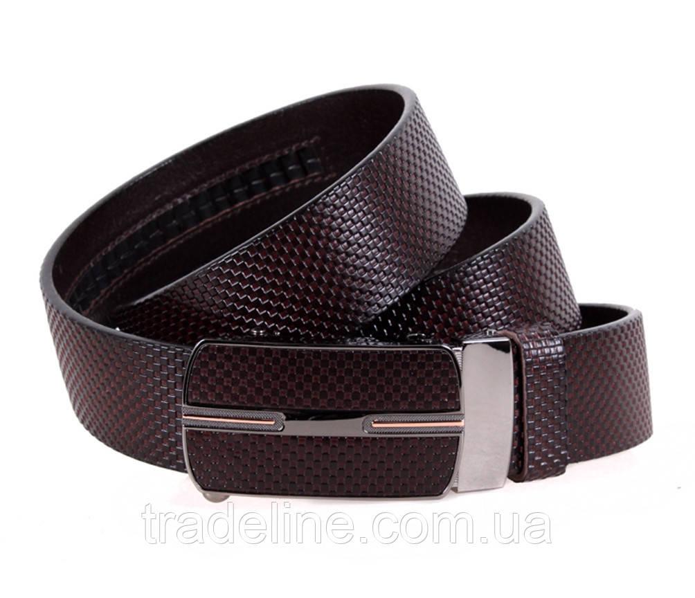 Мужской кожаный ремень Dovhani MGA101-1313 105-125 см Коричневый