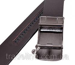 Мужской кожаный ремень Dovhani MGA101-1313 105-125 см Коричневый, фото 3