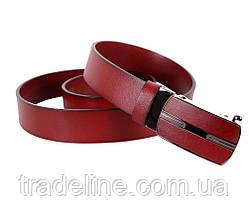 Мужской кожаный ремень Dovhani MGA101-1444 105-125 см Бордовый, фото 3