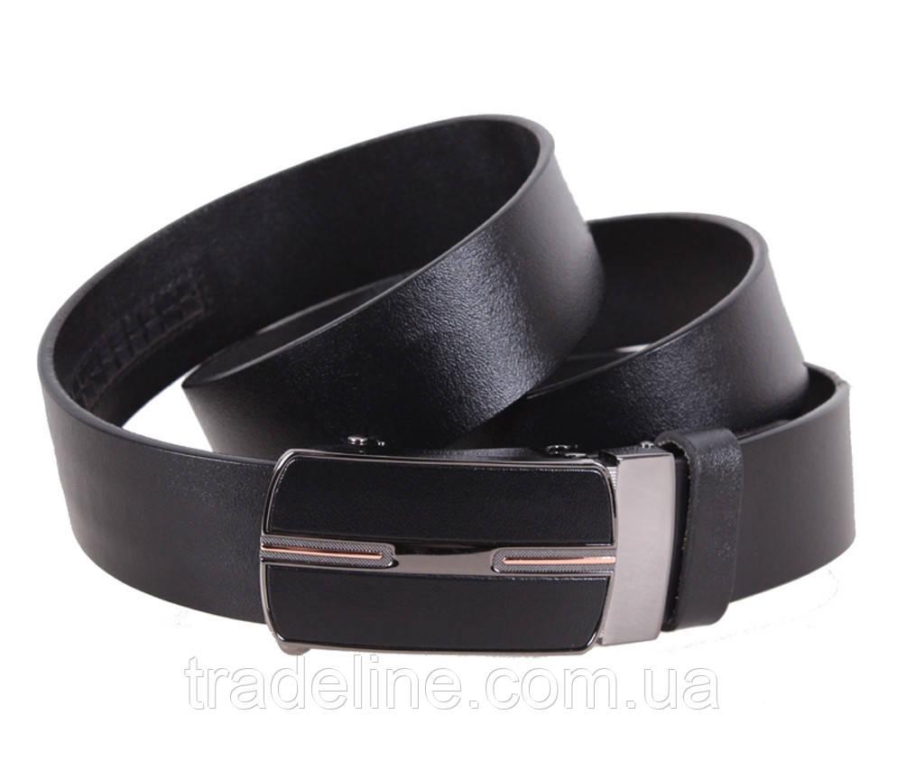 Мужской кожаный ремень Dovhani MGA101-1616 105-125 см Черный