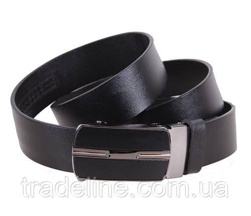 Мужской кожаный ремень Dovhani MGA101-1616 105-125 см Черный, фото 2