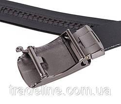 Мужской кожаный ремень Dovhani MGA101-1616 105-125 см Черный, фото 3