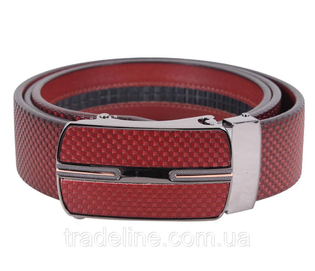 Мужской кожаный ремень Dovhani MGA101-1818 105-125 см Бордовый