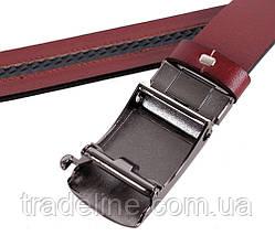 Мужской кожаный ремень Dovhani MGA101-1818 105-125 см Бордовый, фото 3