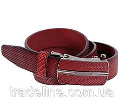 Мужской кожаный ремень Dovhani MGA101-1818 105-125 см Бордовый, фото 2