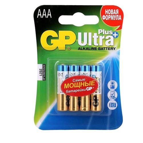 Батарейка GP 24UP-U4 Ultra Alkaline Plus, LR03, ААА блистер 4 шт.